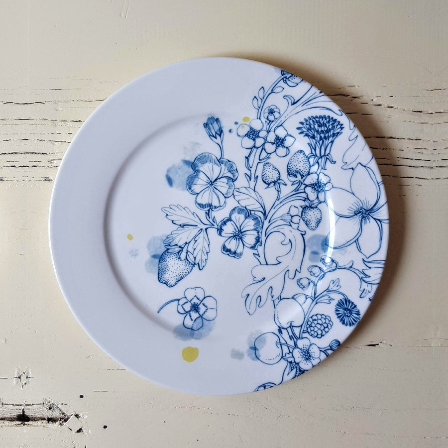 """Image of Blue Summer Dinner Plate """"A"""""""