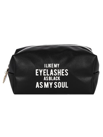 Image of AS BLACK AS MY SOUL Make-up Bag