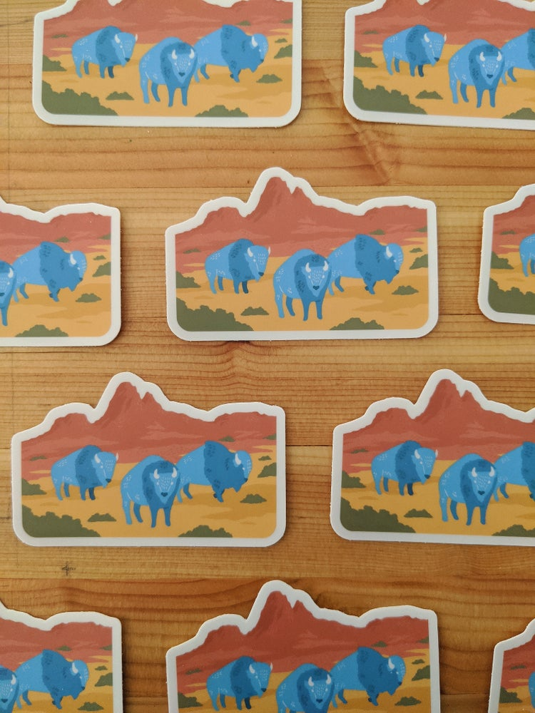 Image of On the Trail bison sticker