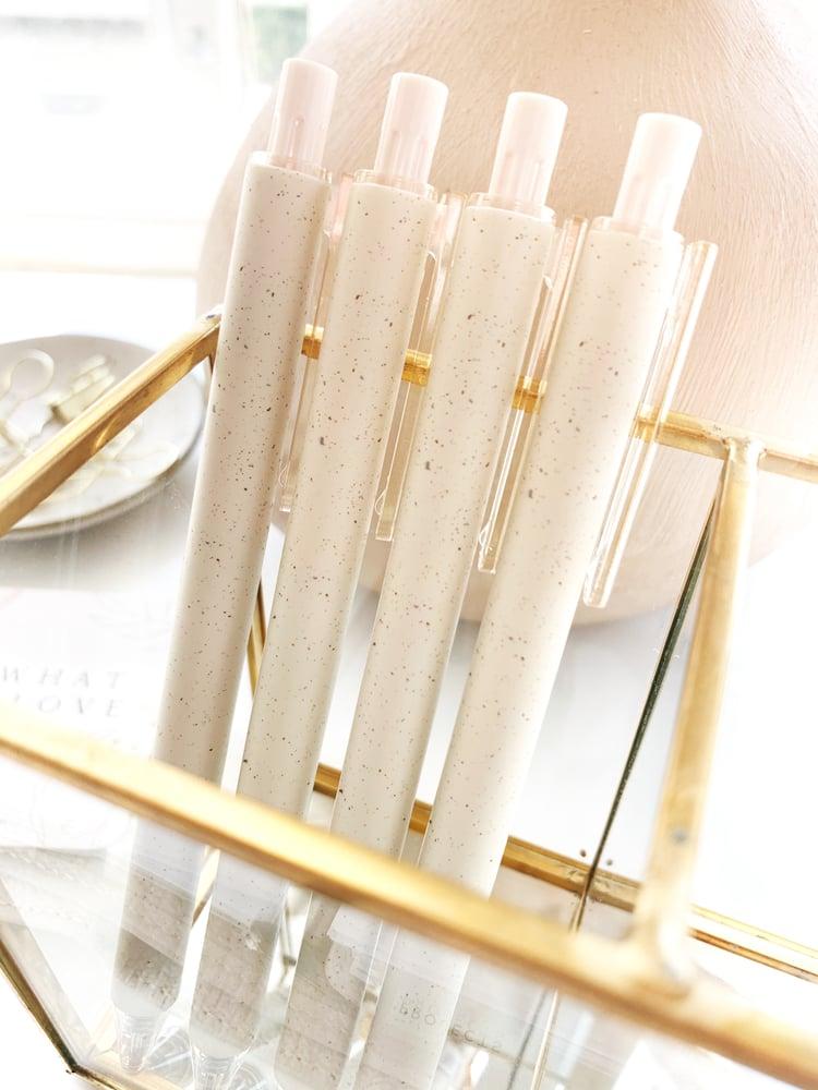 Image of Linen Speckled Fine Tip Gel Pen