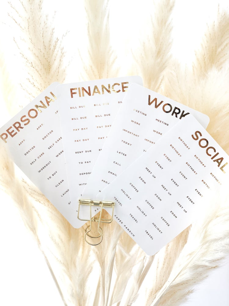 Image of Gold Foil Word Set Stickers