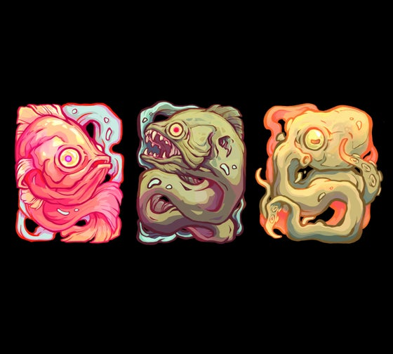 Image of Sea Spirits sticker set