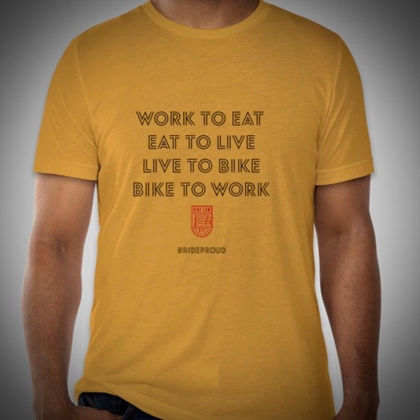 Image of Bike Cycle / Bike to Work T-Shirt - Mustard Tri Blend