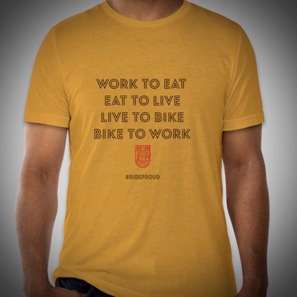 Image of Bike Cycle / Bike to Work T-Shirt - Mustard Tri Blend