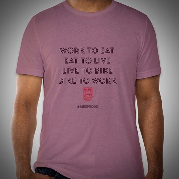 Image of Bike Cycle / Bike to Work T-Shirt - Heather Orchid