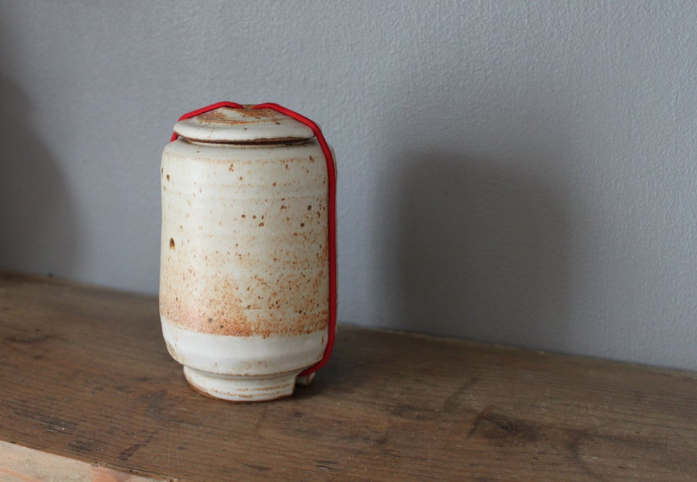 Image of Lidded Caddy with Red Cord