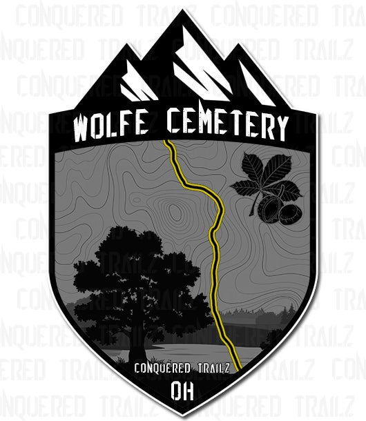 "Image of ""Wolfe Cemetery"" Trail Badge"
