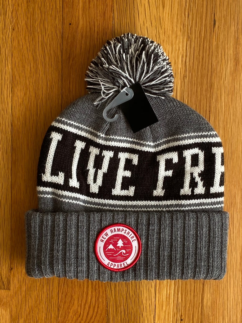 Image of LFOD Pom-Pom winter hats grey/black