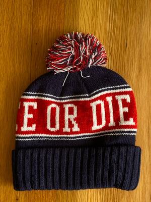 Image of LFOD Pom-Pom winter hats red/navy