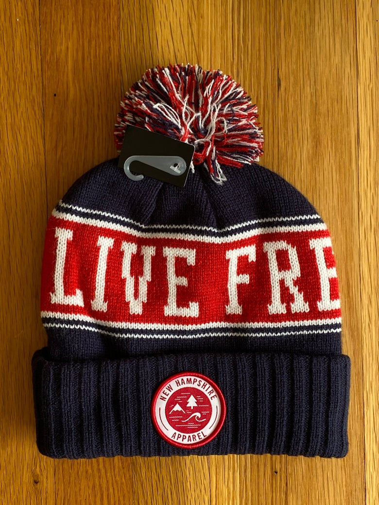 Image of LFOD Pom-Pom winter hats red/navy