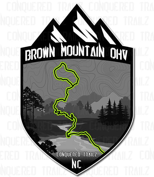 "Image of ""Brown Mountain OHV"" Trail Badge"