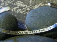 "Image of ""REMEMBER ~ I am Always here for you"" Sterling Bracelet"