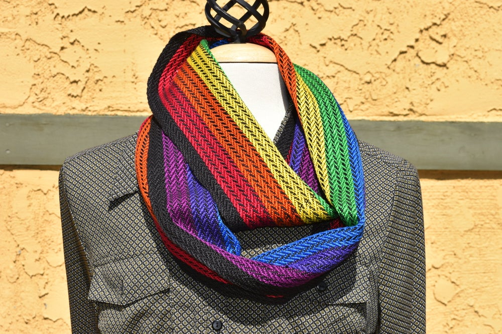 Image of Rainbow Braid Cowl