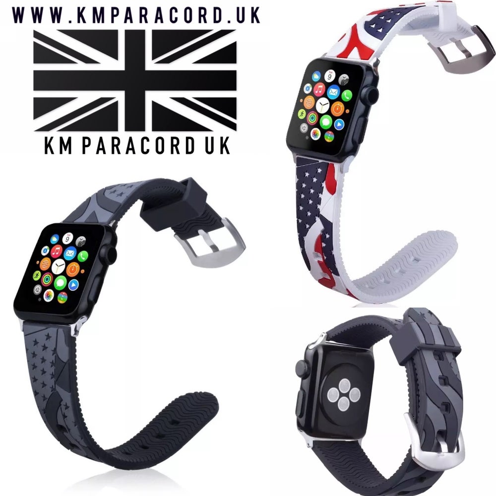 Image of KMP USA FLAG APPLE WATCH STRAP