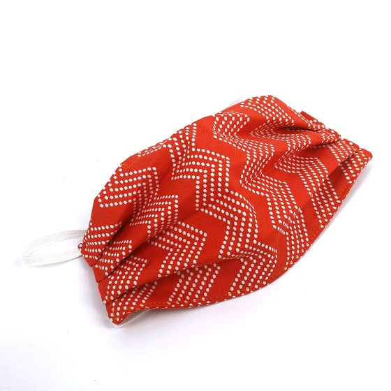 Image of Adult Mask - Orange Chevron