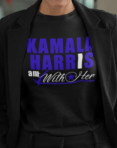 "Image of Kamala Harris ""I AM WITH HER"" Blue"