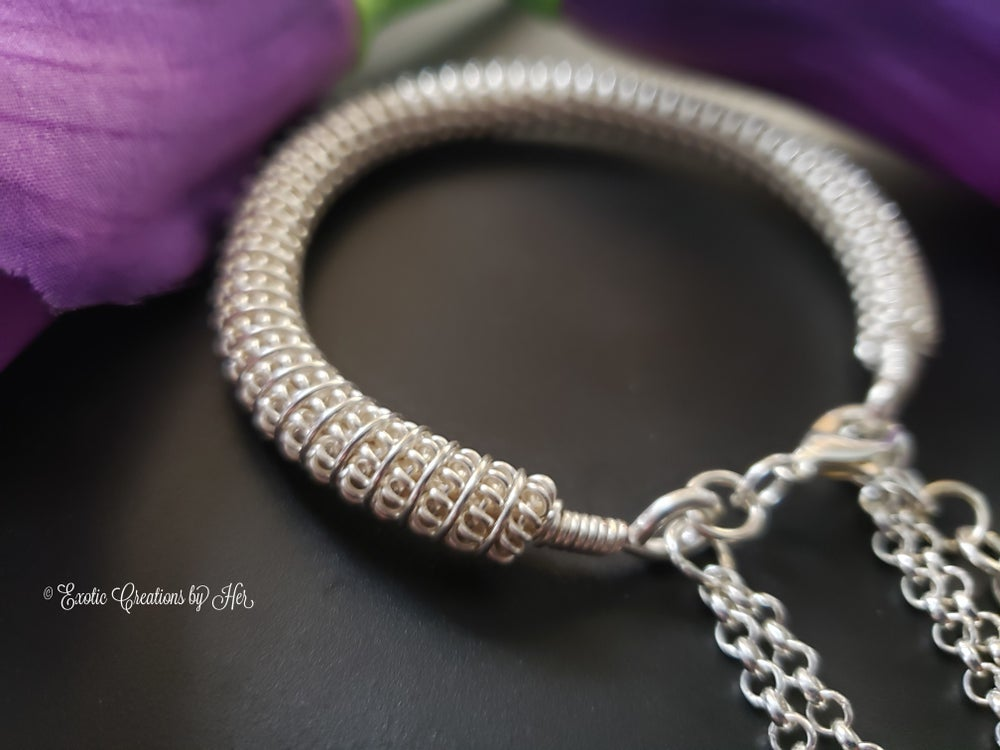 Coiled Bangle with dangle