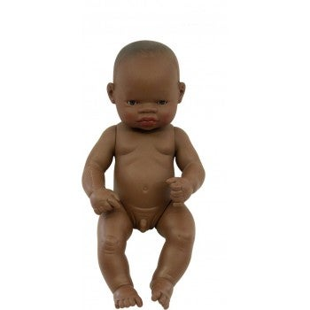 Image of Miniland Doll - Baby, African Boy, 32cm, undressed