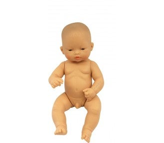 Image of Miniland Doll - Baby, Asian Boy, 32cm, undressed