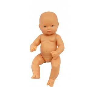 Image of Miniland Doll - Baby, Caucasian Girl, 32cm, undressed
