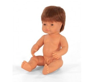 Image of Miniland Doll - Red Hair Caucasian Boy, 38cm, undressed (Pre-order)