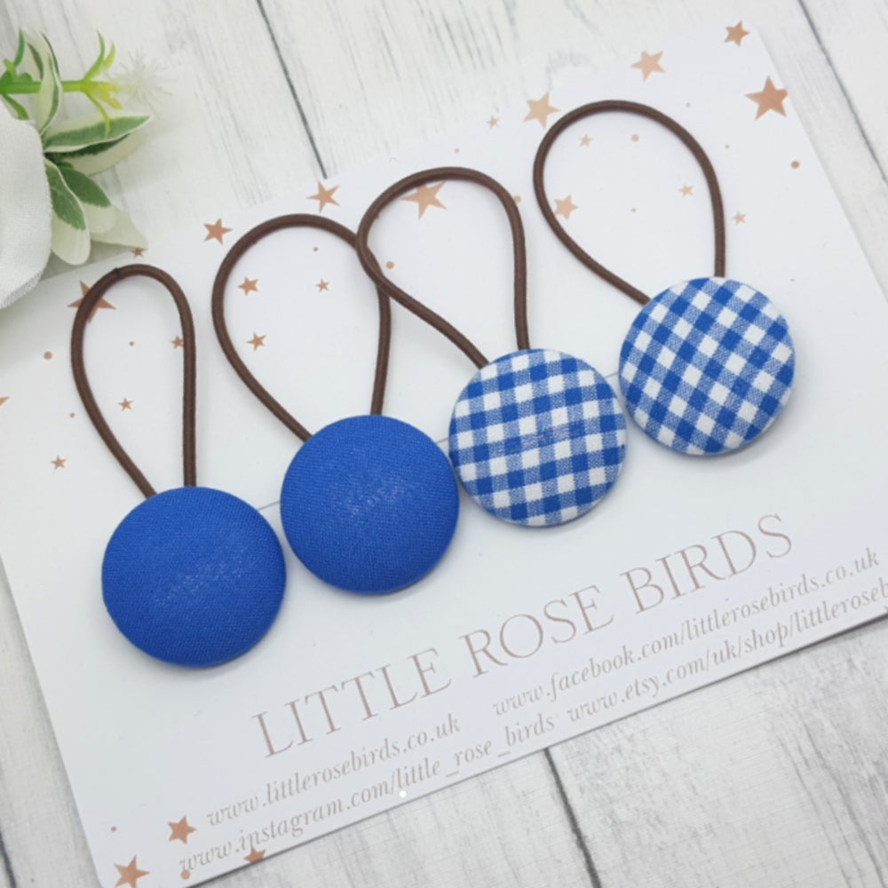 Image of Royal blue school hair bows