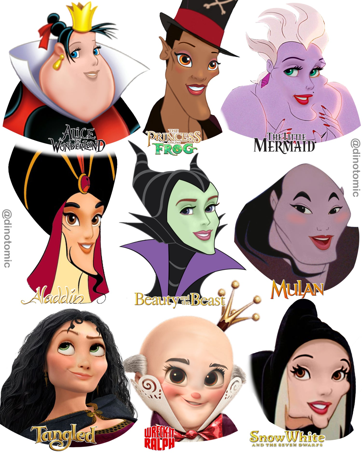Image of #255 Disney princess Villain swap!