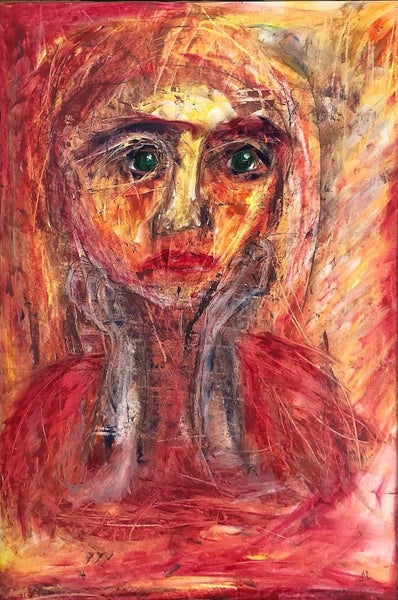 "Image of ""Warm Look"" Oil pastel - 40x60cm"