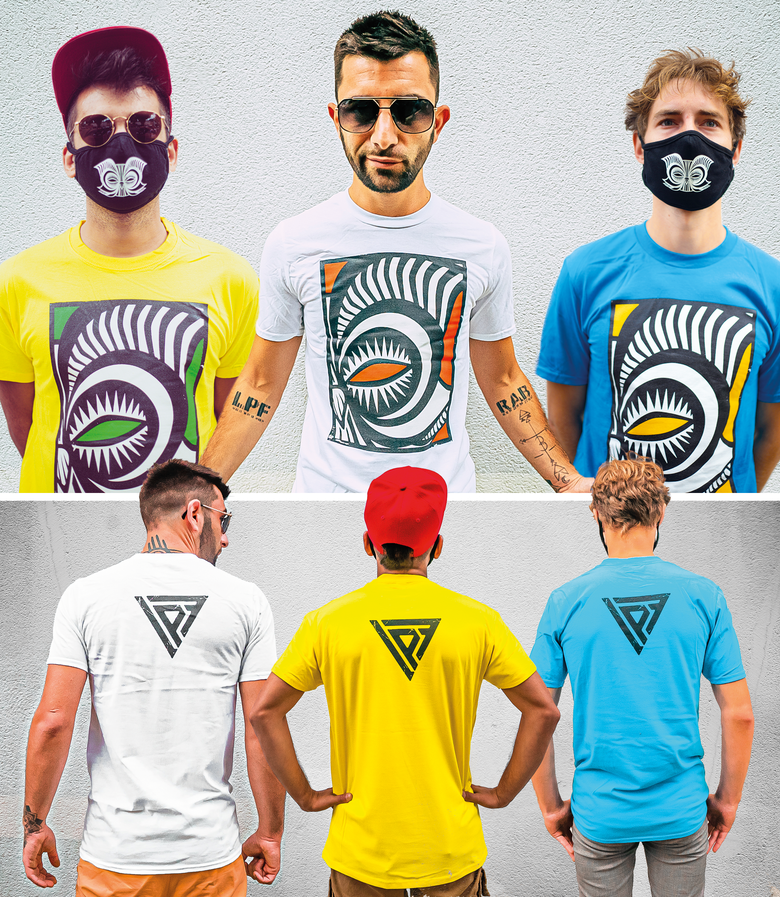 Image of NEW : T-shirt - POPART EDITION - Yellow/White/Blue