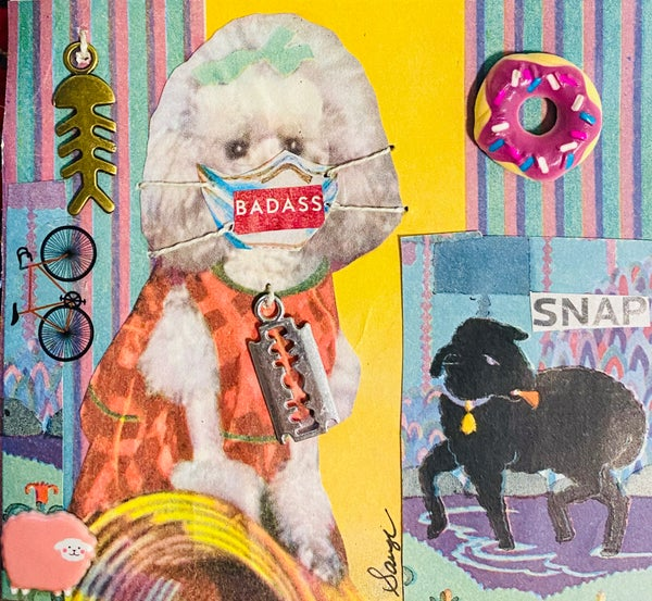 Image of Little Poodle Badass Kit: come with a 'Masks Save Lives' sticker