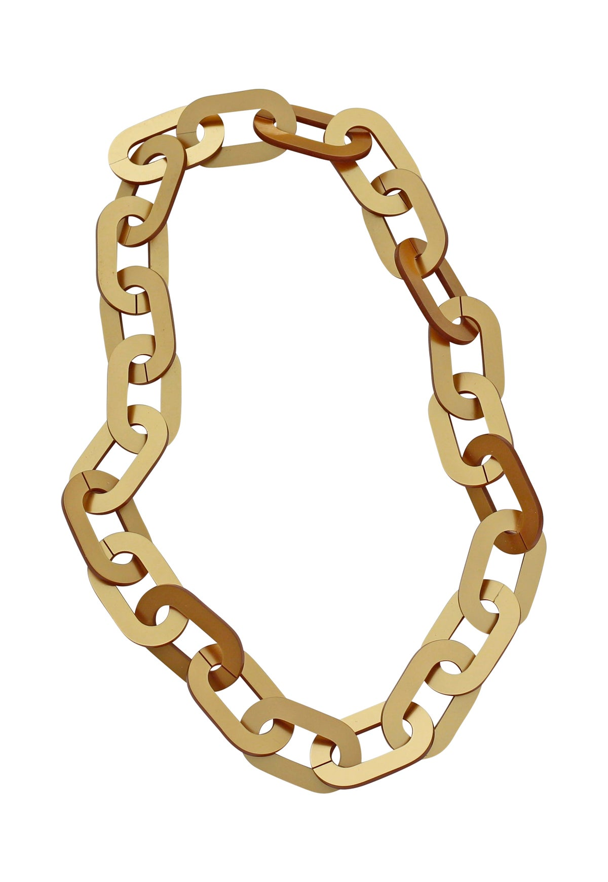 Image of Gold Chain Acrylic Necklace