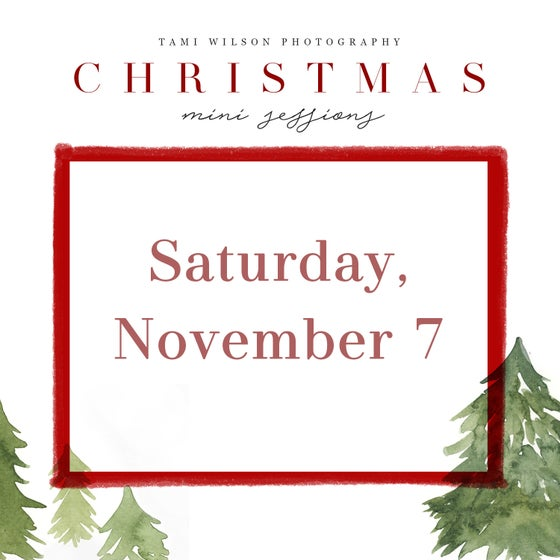 Image of Christmas Mini Session - Saturday, November 7 - deposit