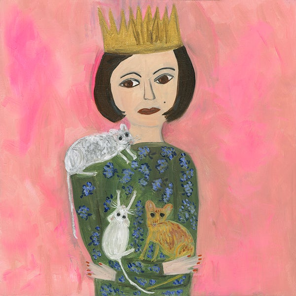 Image of The Rodent Queen. Limited edition print.