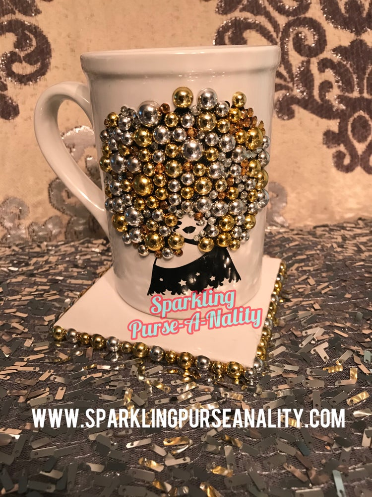 "Image of ""Sparkling"" Jazzy Fashionista Mug & Coaster Set"