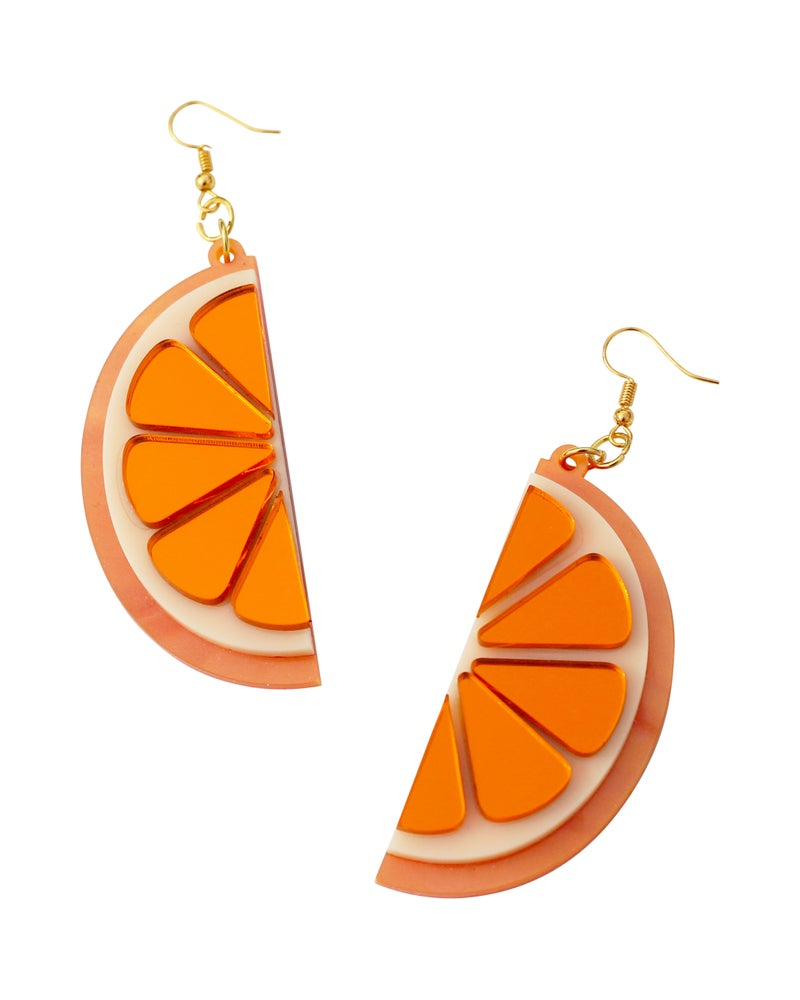 Image of Orange Slice Earrings