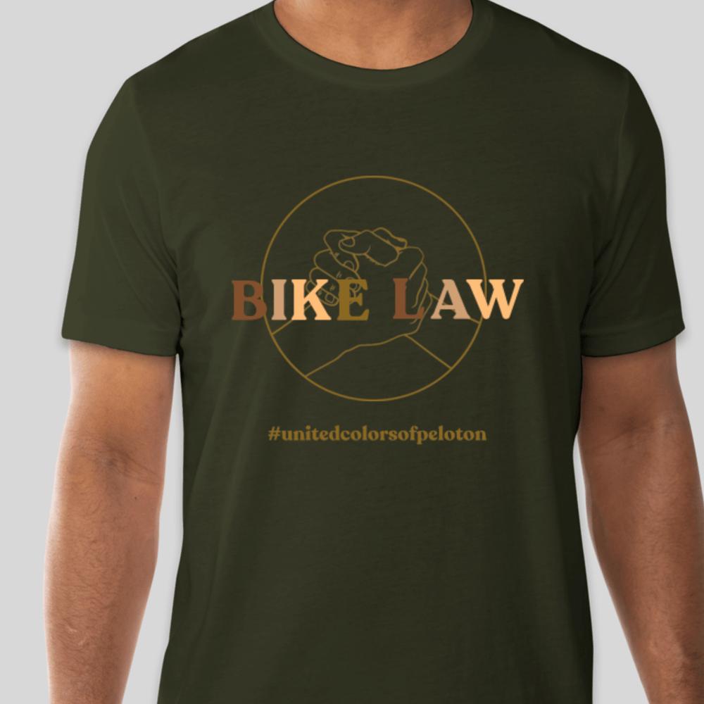 Image of #UnitedColorsofPeloton - Dark Olive Jersey T-Shirt