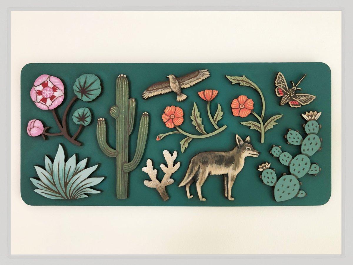 Image of Desert Panel Painting