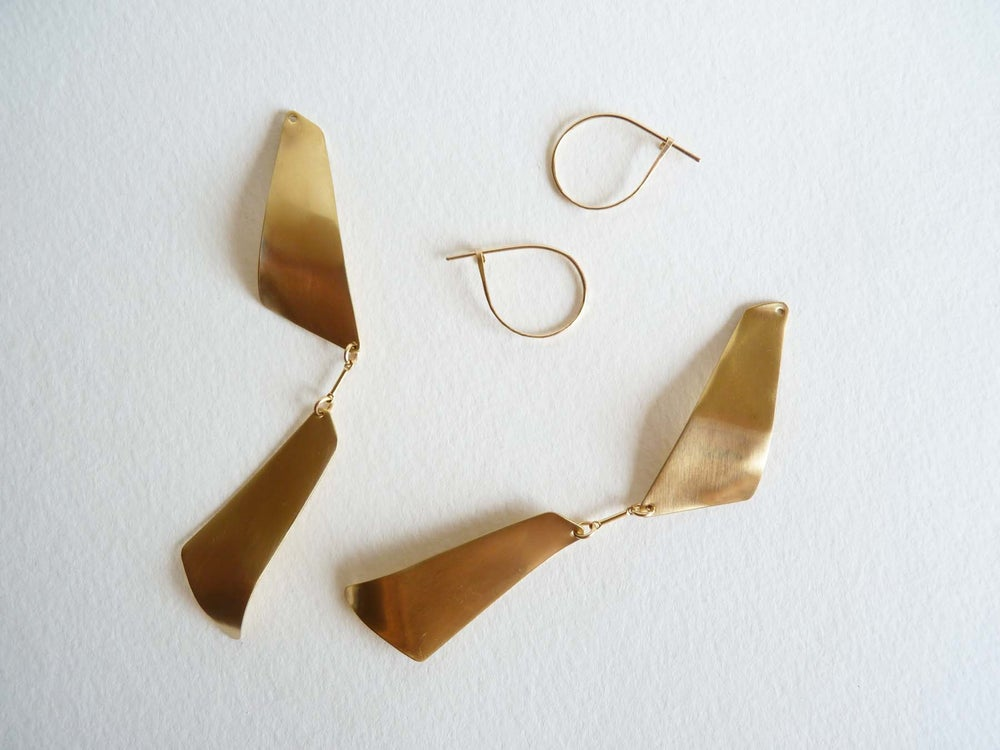 Image of Double trapeze earrings