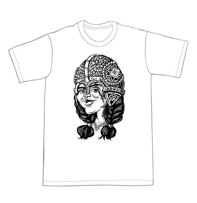 Young Viking Warrior T-shirt (A2)  **FREE SHIPPING**