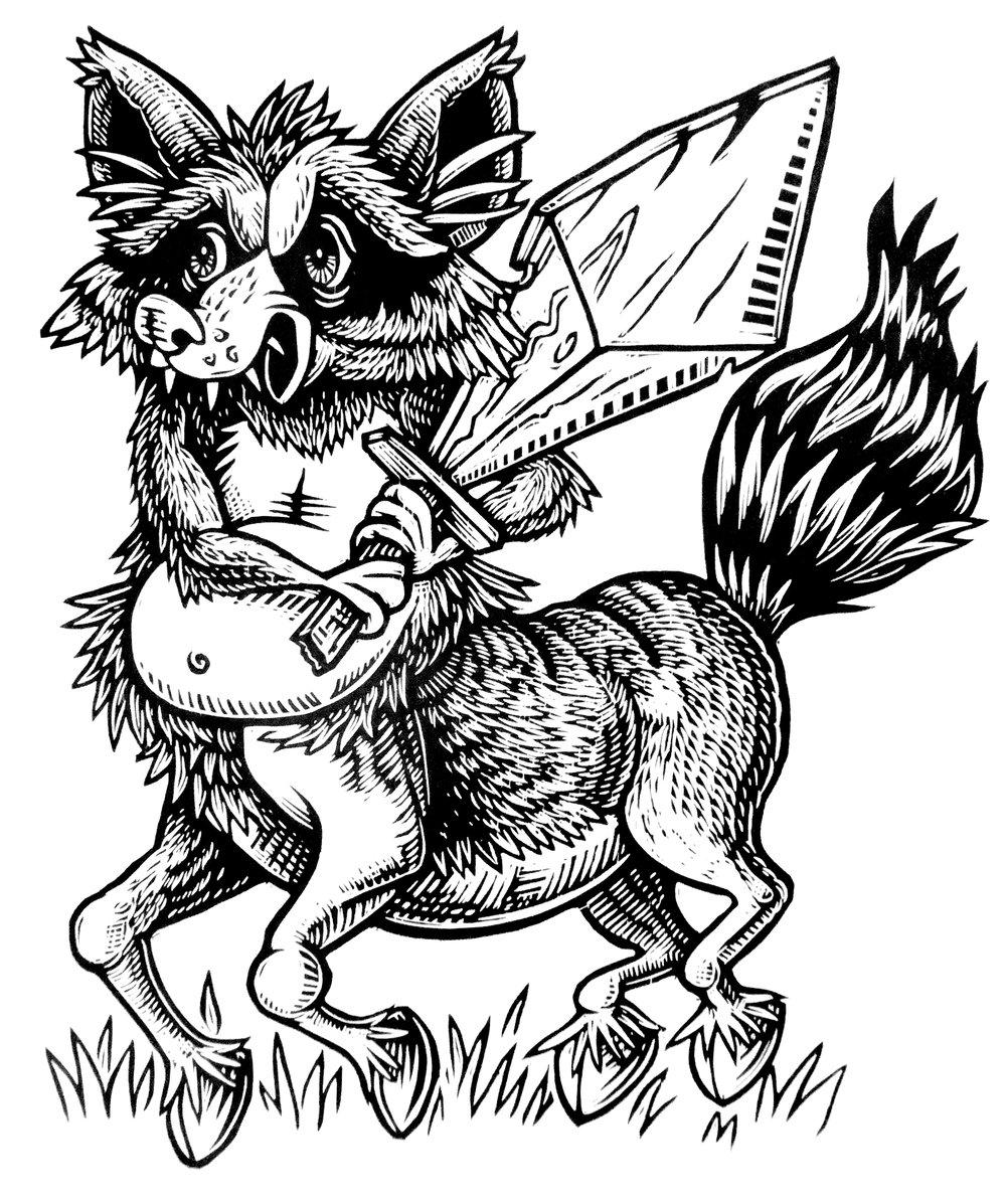 Raccoon Centaur T-shirt (B3)  **FREE SHIPPING**