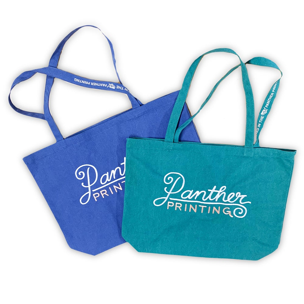 Image of PANTHER CAPE EMBROIDERED TOTE