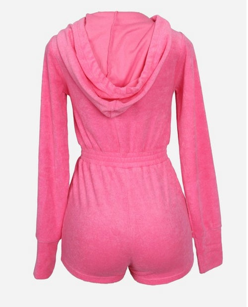 Image of Pink Velour | Jumpsuit