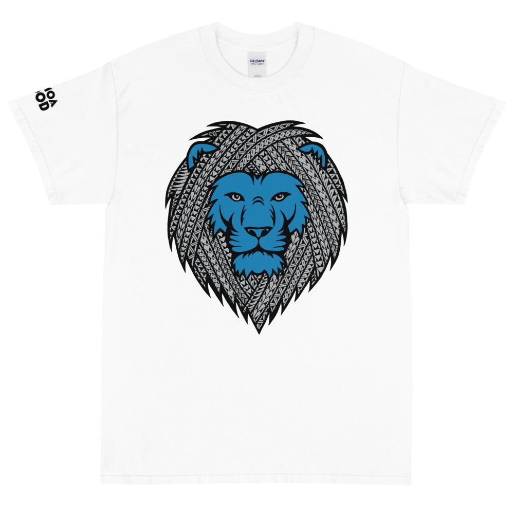 Image of Blue Tribal Lion Tee