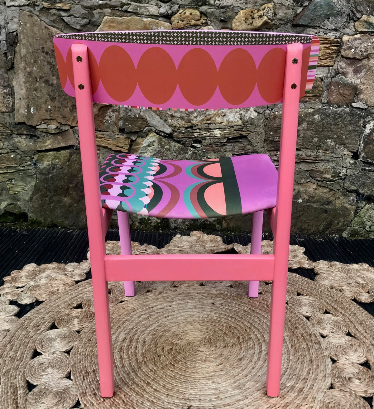 Image of Disc'o' Pink/Sage * 60's G Plan Chair