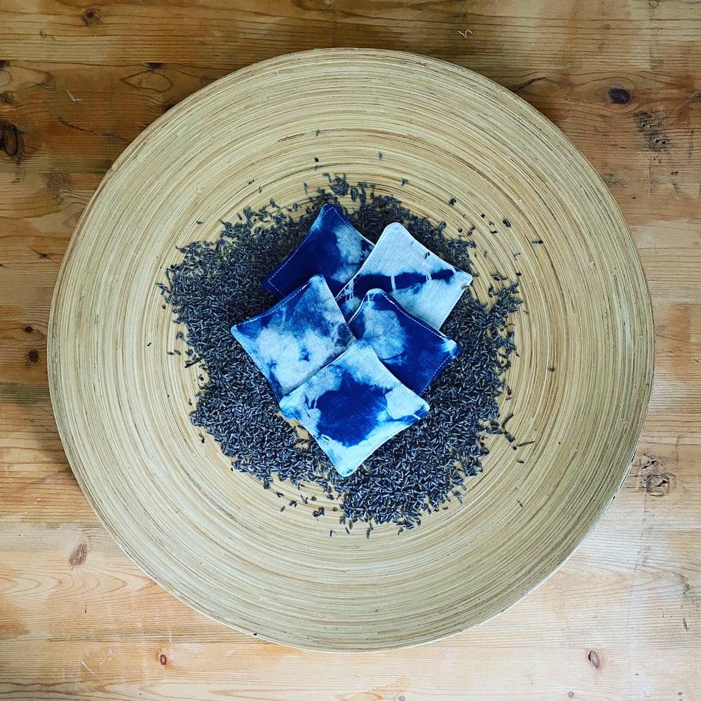 Image of Linen ndigo Dyed Lavender Sachets