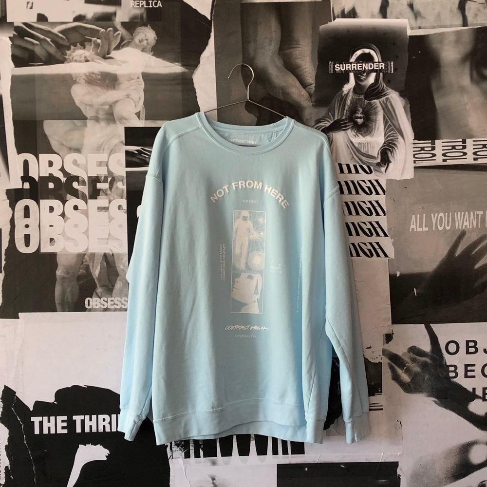"Image of ""Not From Here"" Crewneck"