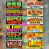 US Cities Jeepney Signs Stickers (Series 1)