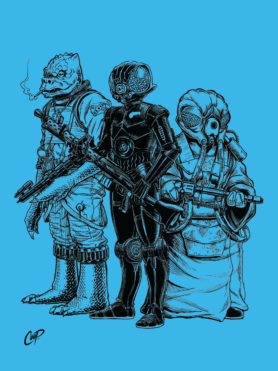 Image of SCUM AND VILLAINY Silkscreen Print