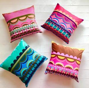 Image of Disc'O' Birthday Velvet Cushion