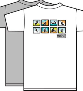 Image of Kids Who Rip Grey or White Icon T-Shirt